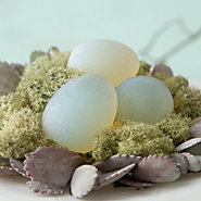 Frosted Glass Quail Egg