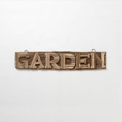 Driftwood Garden Sign