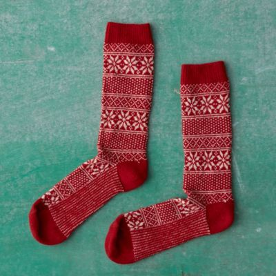 Snowflake Stripe Socks