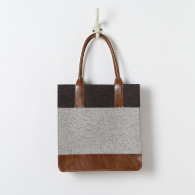 Striped Felt Tote