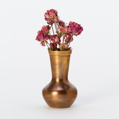 Polished Bronze Bud Vase