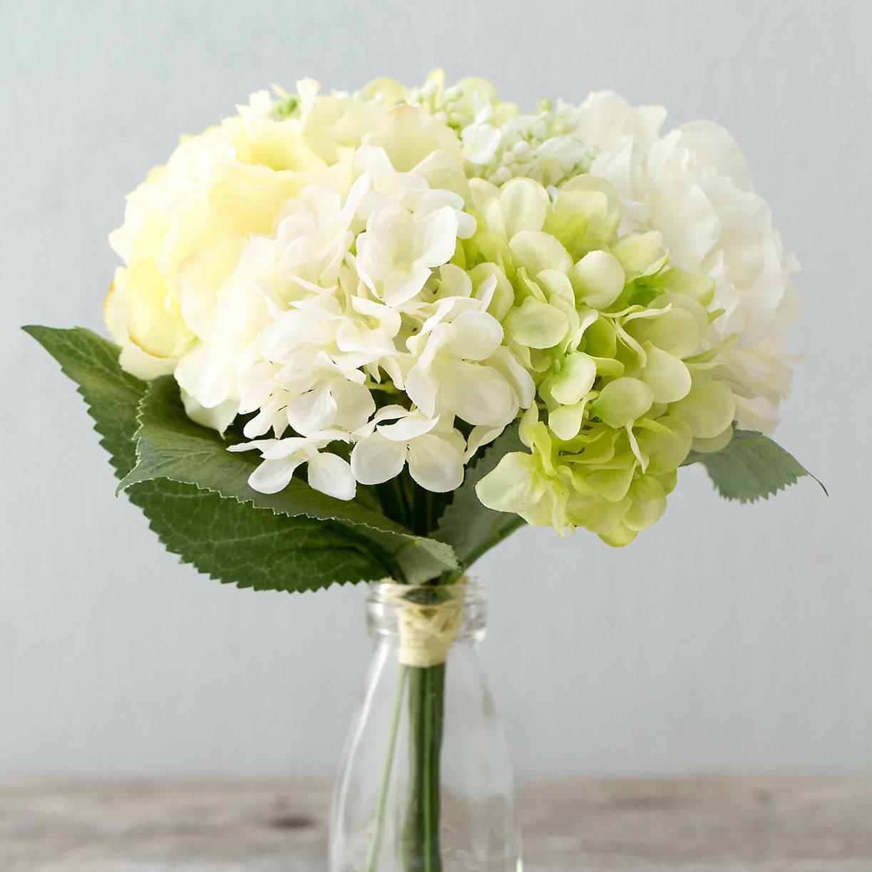 Silk hydrangea bouquet terrain