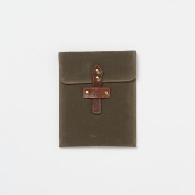 Waxed Canvas iPad Sleeve