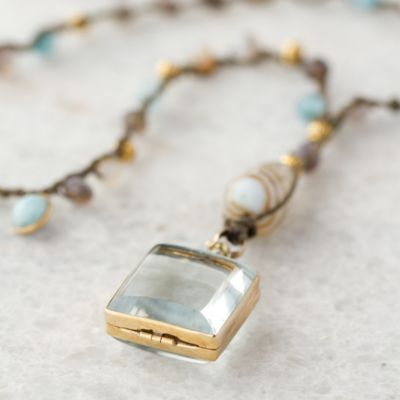 Labradorite Locket Necklace