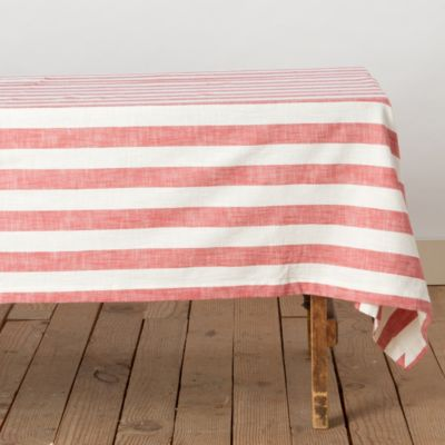 Yarn Dyed Stripe Tablecloth