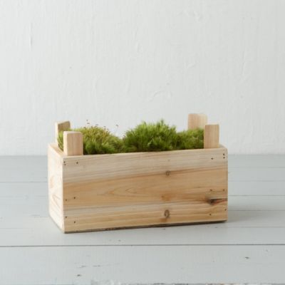 Natural Wood Planting Crate