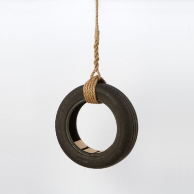 Wooden Seat Tire Swing