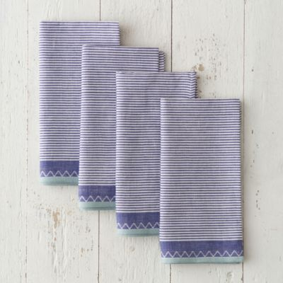 Ticking Stripe Napkin Set