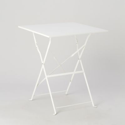 Painted Metal Bistro Table, Square