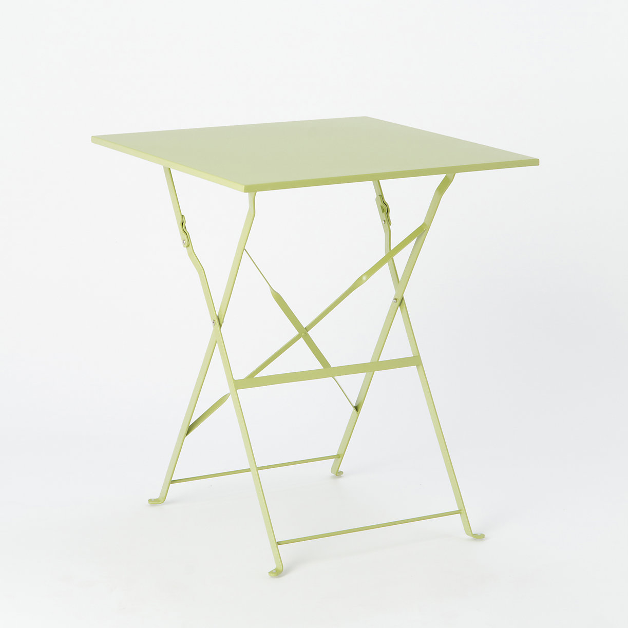 Painted Metal Bistro Table, Square. Loading Zoom