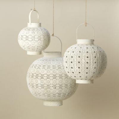 White Filigree Lantern