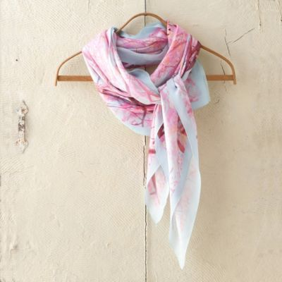 Silk Square Scarf, Cherry Blossom