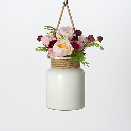 Milk Glass Hanging Lantern