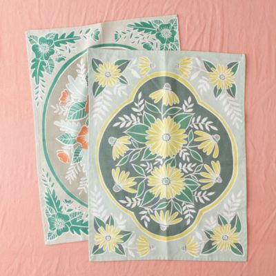 Flower Garden Tea Towel Set