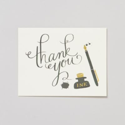 Calligraphy Thank You Card Set