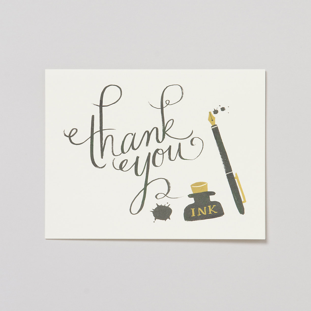 Calligraphy Thank You Card Set Terrain