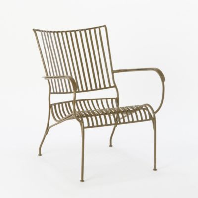 Curved Iron Garden Chair