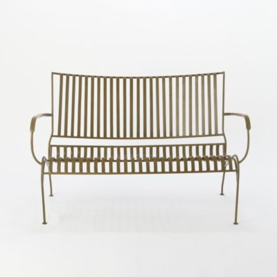 Curved Iron Garden Bench