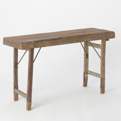 Reclaimed Folding Console Table