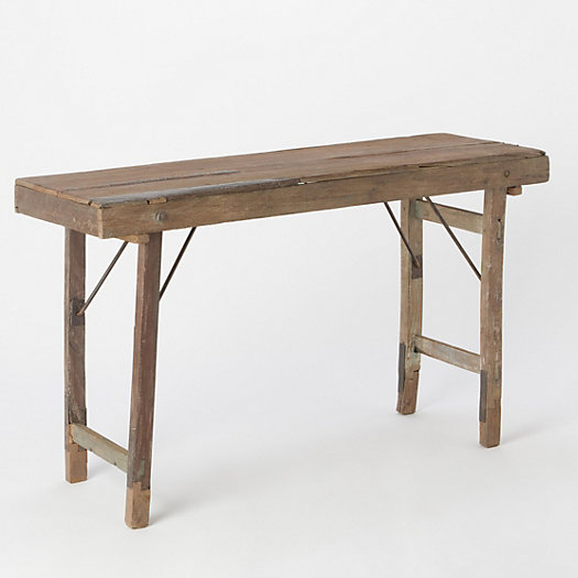 Reclaimed folding console table terrain for Table console retractable