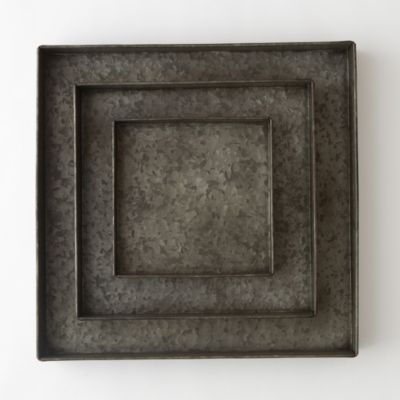 Habit & Form Square Tray, Dark Zinc