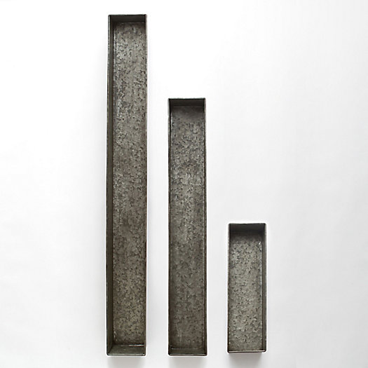 Habit + Form Trough, Dark Zinc