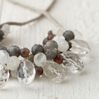 Moonstone Bib Necklace