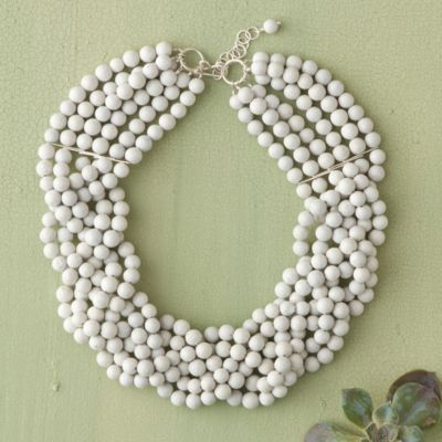 Braided Feldspar Collar Necklace
