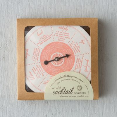 Citrus Cocktail Coasters & Spinner