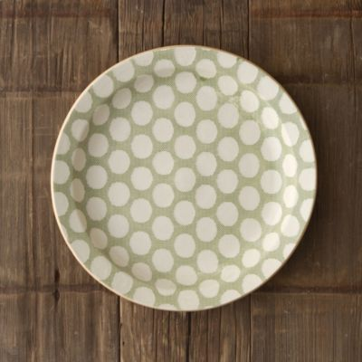 Polka Dot Textile Serving Bowl
