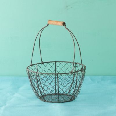 Wire & Wood Basket