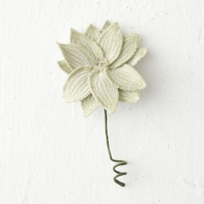 Embroidered Flower Gift Toppers