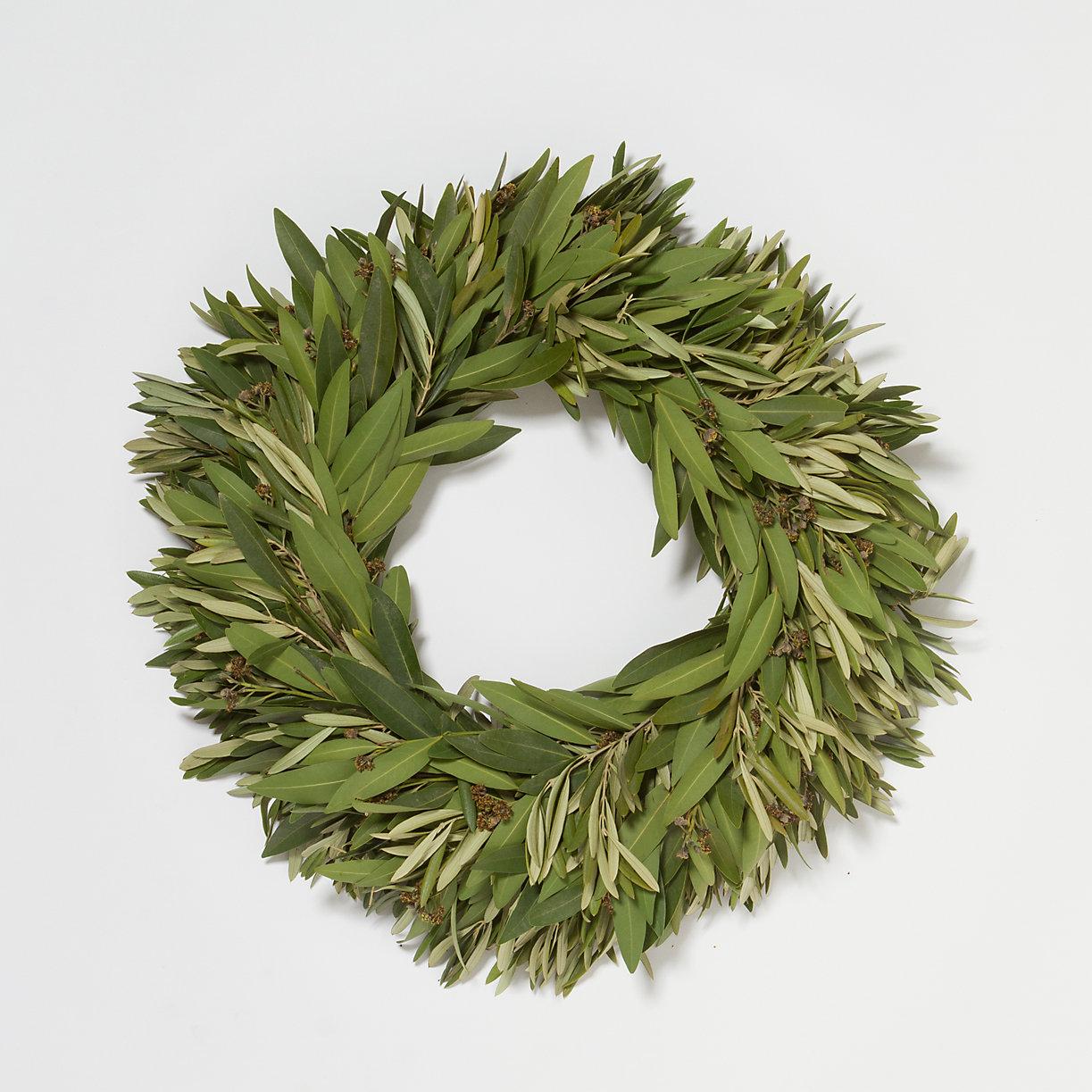 Fresh Bay & Olive Wreath