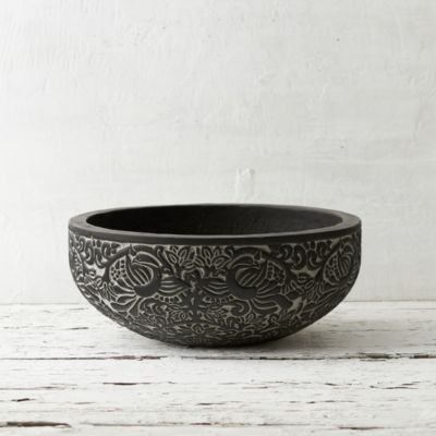 Carved Charcoal Bowl