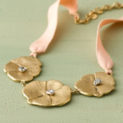 Pansy Trio Necklace