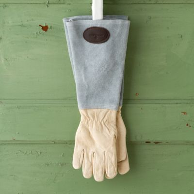 Leather & Suede Garden Gauntlet, Solid