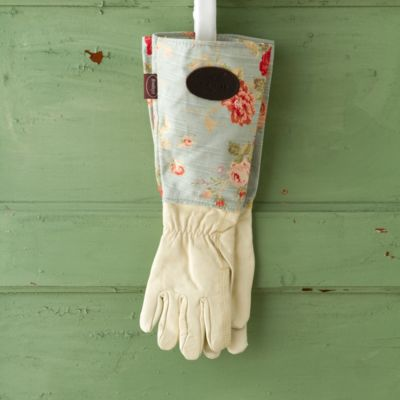 Leather & Linen Garden Gauntlet, Floral
