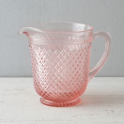 Rose Glass Pitcher