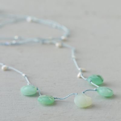 Chrysoprase Crest Necklace