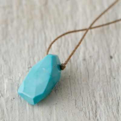 Sleeping Beauty Turquoise Droplet Necklace