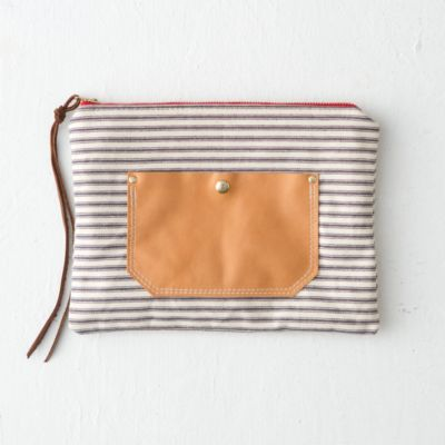 Leather Pocket Clutch