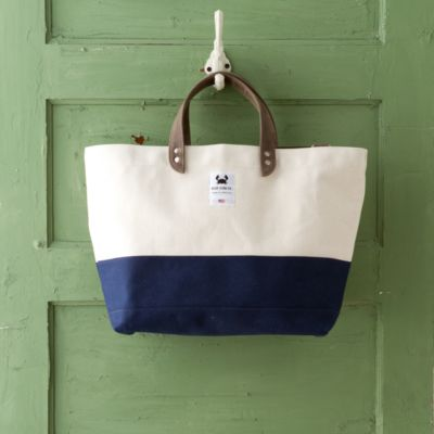 Colorblocked Canvas Tote