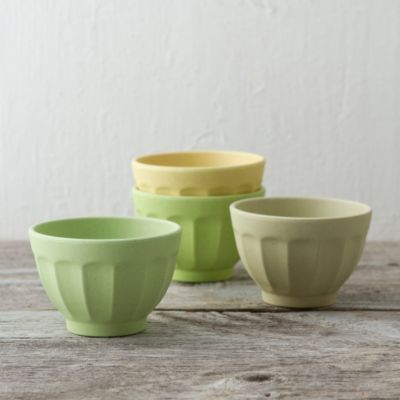 Set of Bamboo Picnic Ice Cream Bowls