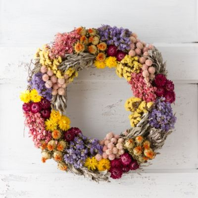 Floral Patchwork Wreath