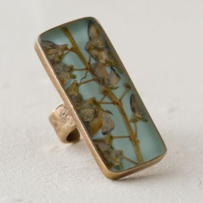 Pressed Lupine Botanical Ring