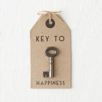 Key to Happiness Gift Tag