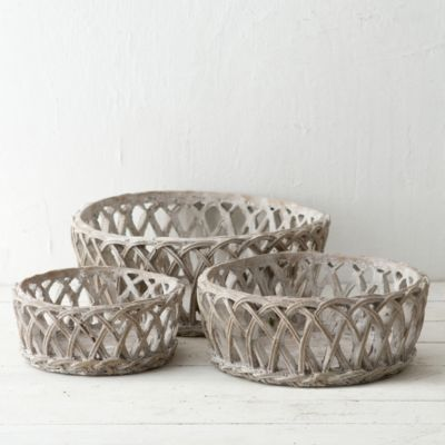 Cement Trellis Basket
