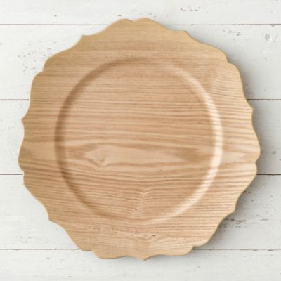 Decorative Woodgrain Charger