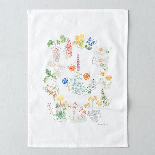 Floral Wreath Tea Towel