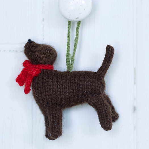 Knitted Lab Ornament